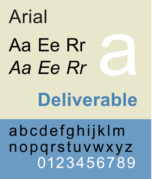 An example of Arial font