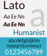 An example of Lato font