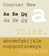 An example of Courier font