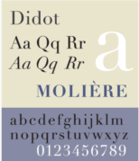 An example of Didot font