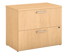 A picture of a 2 drawer lateral locking filing cabinet