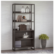 A picture of a tall bookcase