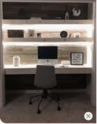 Closet Office under cabinet lighting