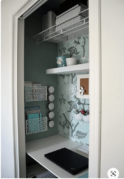 Closet office accent wall