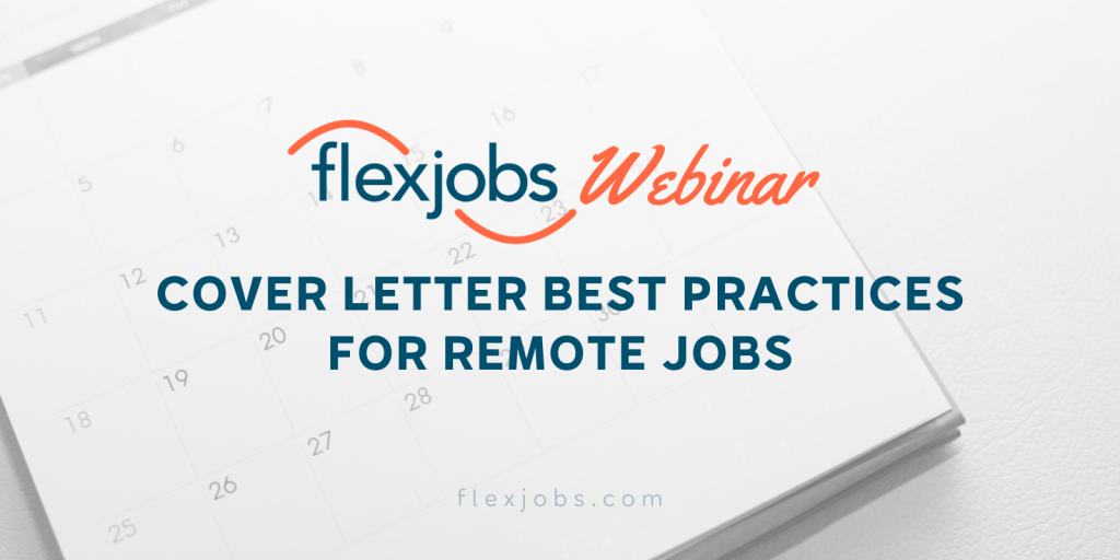 cover letter best practice for remote jobs