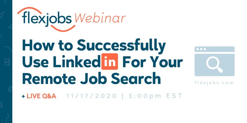 use linkedin job search webinar