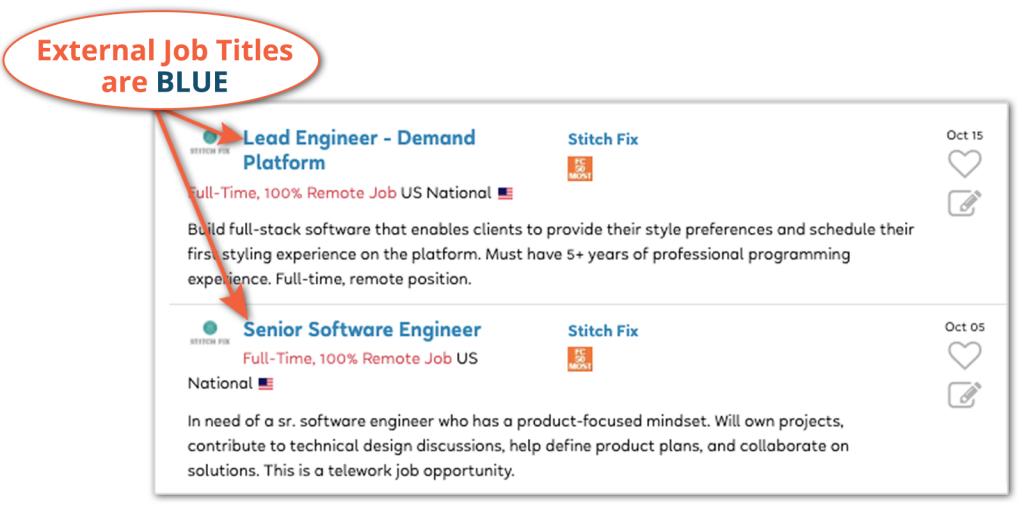 external job title flexjobs