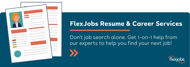 FlexJobs resume and career coaching services